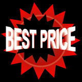 Best price. Text with the red bomb effect Royalty Free Stock Photography