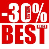 Best price - 30 percent off Royalty Free Stock Photography