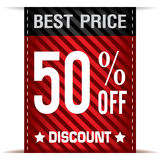 Best Price Banner and Discount on white background. Discount Sale background Royalty Free Stock Image