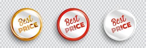 Best price banners set. Vector illustration royalty free illustration