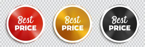 Best price banners set. royalty free illustration