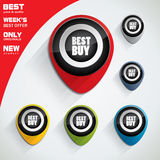 Best price, best buy colorful bubble set Stock Photos