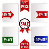 Best price, best offer and sale ribbons set Stock Photography