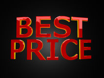 Best price on black Royalty Free Stock Photo