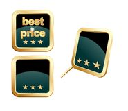 Best price button. Button designed for web and other print material royalty free illustration