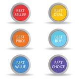 Best price color vector Royalty Free Stock Photos