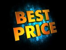Best Price Concept on Digital Background. Stock Images