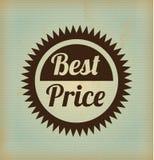 Best price frame. Over vintage background vector illustration stock illustration