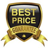 Best Price gold badge icon for guarantee emblem royalty free stock photography