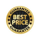 Best price guarantee gold badge vector eps10. Best price shop discount icon royalty free illustration