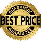 Best price guarantee golden label Royalty Free Stock Photo