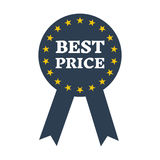 Best price guarantee label icon. Vector illustration Stock Photo