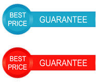 Best price guarantee labels,  illustration Royalty Free Stock Photo