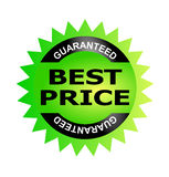 Best price guarantee seal Stock Image