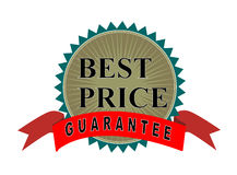 Best price guarantee seal Royalty Free Stock Photo