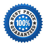 Best Price Guaranteed Label Isolated. On white background. 3D render Stock Image