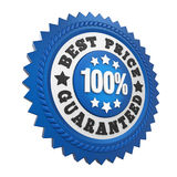 Best Price Guaranteed Label Isolated Stock Photo