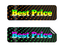 Best price. Holographic sticker with the inscription best price Royalty Free Stock Image
