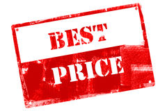 Best Price, illustrated with grunge textures Stock Image