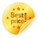 Best price isolated golden vector sticker Stock Photos