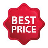 Best Price misty rose red starburst sticker button royalty free illustration