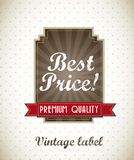 Best price label Royalty Free Stock Photography