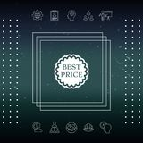 Best Price label icon. Element for your design Royalty Free Stock Photo