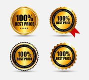 Best Price 100 % Label Set Vector Illustration Royalty Free Stock Photography