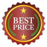 Best price label. On white background, vector illustration Royalty Free Stock Photography