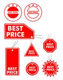 Best price labels. Vector illustration of best price labels Stock Photo