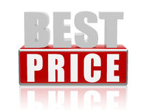Best price - letters and cubes Royalty Free Stock Photo