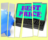 Best Price Piggy Bank Shows Internet Sale And Deals Stock Photos