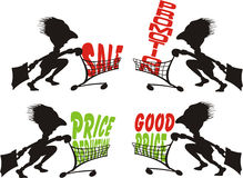 Best price, promotion, in store promotion Royalty Free Stock Photos