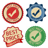 Best price promotional label, sticker or stamps Royalty Free Stock Photo