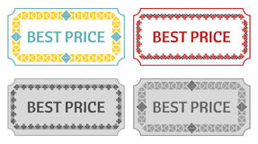Best price, retro label Stock Photography