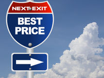 Best price road sign Royalty Free Stock Photography