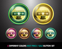 Best price sale button set Royalty Free Stock Photography