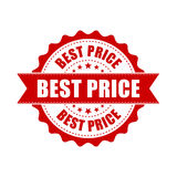 Best price sale grunge rubber stamp. Vector illustration on whit Stock Images