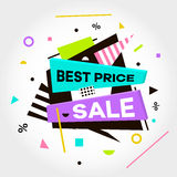 Best Price. Sale. Special Offer text. Vector creative sale banners template. Vector Illustration Stock Images