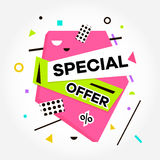 Best Price. Sale. Special Offer text. Vector creative sale banners template. Vector Illustration. Royalty Free Stock Photography