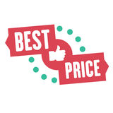 Best price sale sticker or banner. Vector symbol of special offers and for promotion of sales, shopping online. Eps10  illus Royalty Free Stock Photo