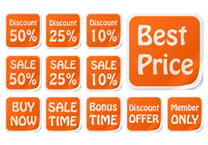 Best price sales tags Royalty Free Stock Photos
