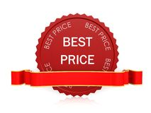 Best price seal with ribbon Royalty Free Stock Image
