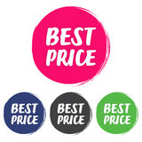 Best  price. Set of grunge style on a white background Royalty Free Stock Images