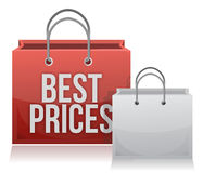 Best price shopping bag Stock Photography