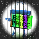 Best Price Shopping Bag Represents Bargains and Discounts Stock Images