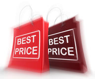 Best Price Shopping Bags Represent Discounts and Bargains Royalty Free Stock Photography