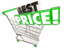 Best Price Shopping Cart Lowest Sale Deal vector illustration