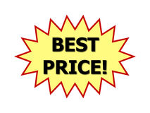 Best price sign Royalty Free Stock Image