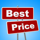 Best Price Signs Means Promotion Placard And Sales Royalty Free Stock Images